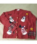 Women's Croft & Barrow Size Medium Ugly Christmas Sweater Snowman Wooden... - $14.85