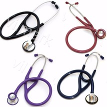 Professional Cardiology Stethoscope Double Head With Diaphragm PickUp Your Color - $21.49+