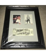 Sugar Ray Leonard/Bob Foster Autographed Boxing Ticket Framed And Matted - $99.98