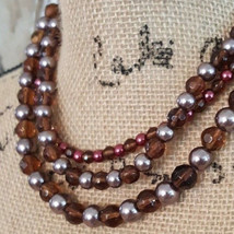Premier Designs Mahogany Removable Multi Strand Beaded Necklace - $21.77