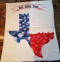 "Panel Quilt Across Texas State Shape Cotton Fabric Panel 36"" X 44"" RJR ... - $12.19"