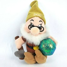 "Disney Store Snow White & 7 Dwarfs Doc 9"" Plush Dwarf Mining Pickaxe Pin... - $14.50"