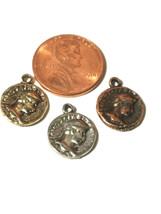 Ancient Coin Fine Pewter Charm - 2x15x12mm image 2