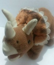2006 Commonwealth Prehistoric Pals Brown Dinosaur Triceratops Dino Plush Stuffed - $14.21