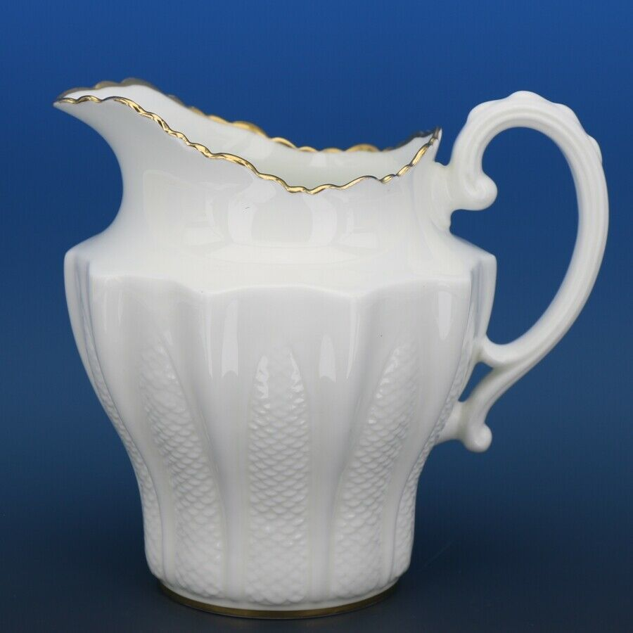 Vintage Paragon China Bright White Fishscale Milk Pitcher c.1935 1 PINT