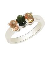 Party Wear 925 Sterling Silver Multi Tourmaline Ring Jewelry Sz 5 SHRI0215 - $26.11