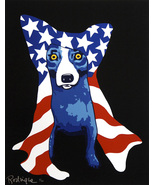 George Rodriguez Art oil painting printed on canvas home decor Blue Dog - $14.99+