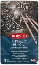 Derwent Metallic Pencils W/tin 12/pkg- - $39.39