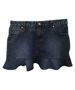 Xhilaration Ruffle Denim Mini Skirt 13 - $20.00