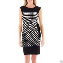 R&K Originals Side-Tie Square Print Sheath Dress Size M MSRP $70.00 - $21.99