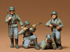 Tamiya 1/35 German Army Infantry Kit / Shipping with strong packaging + ... - $7.91