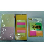 Set of 3 Mutli-Colored Stick-On Notes and Flags - $6.92