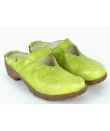 El Naturalista Green Apple Leather Mary Jane Mule Clogs Shoes Womens 8 U... - $64.34
