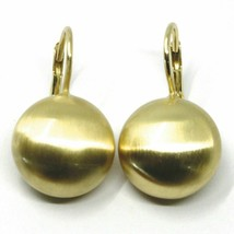 Aquaforte Earrings in Silver 925 with Disk 16 MM Gold Made in Italy image 1