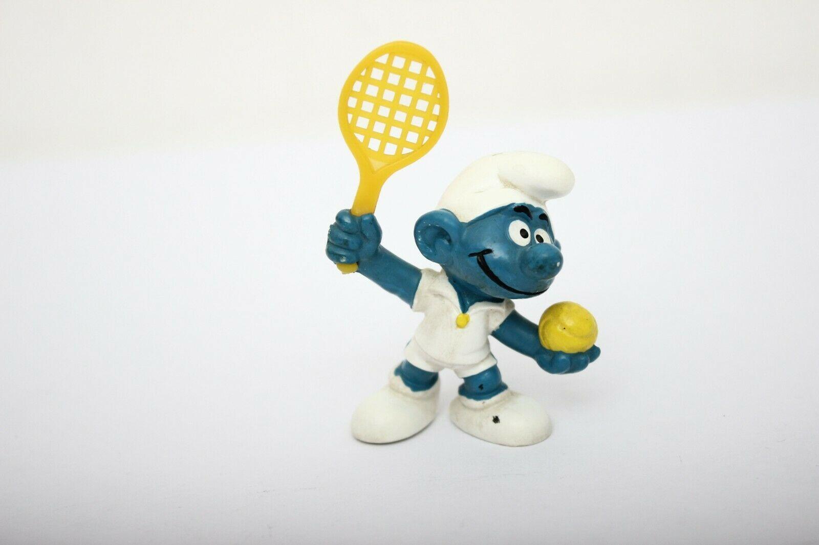 Smurfs Baby Smurf White Pajamas Rattle Vintage Figure  Toy Peyo Figurine