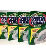 Automatic Toilet Bowl Cleaner with Bleach 2000 Flushes Green Boxes 4 Tab... - $16.82