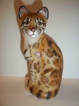 Fenton Glass Natural Margay Stylized Cat Figurine GSE J.K. Spindler Ltd ... - $232.32