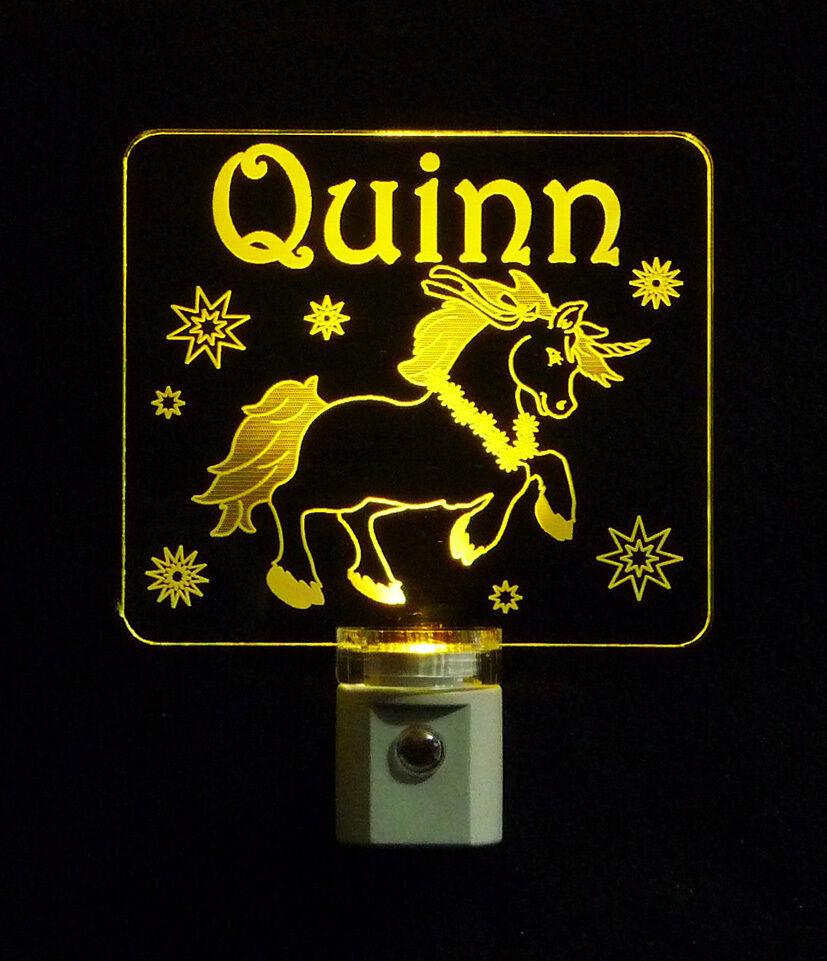 """Personalized Unicorn Night Light - LED - Girls Lamp 3/8"""" Acrylc image 7"""
