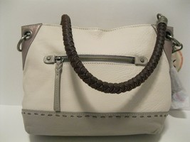 The Sak Indio Pebbled Leather Braided Shoulder Straps Colorblock Tote NW - $69.45