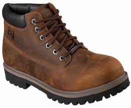 Mens Skechers Sergeants Verdict Dark Brown Waterproof Boots [4442/CDB] - £56.98 GBP