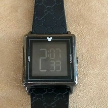 Mens Disney Parks Mickey Mouse Watch digital black silicone f131-7144-6-13122 - $57.92