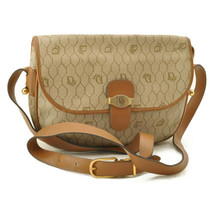 CHRISTIAN DIOR PVC Leather Vintage Shoulder Bag Beige Auth ar1850 - $160.00