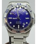 West End Watch Co. Impermeable Men's Swiss Automatic Watch - Metallic Blue - $582.47