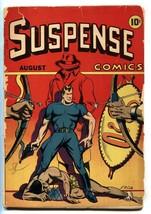 SUSPENSE COMICS #5 1944-LB COLE-HORROR-CRIME-GREY MASK STORY-LOW GRADE COPY - $624.20