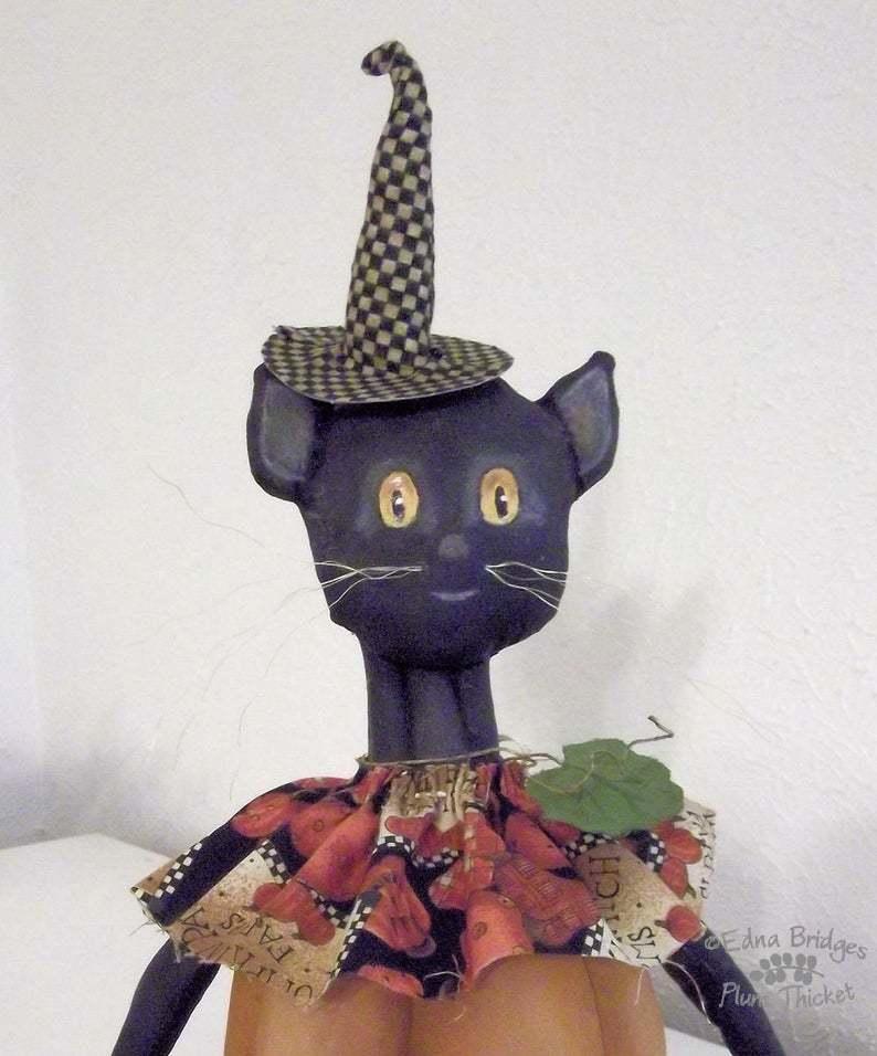 """Pumpkin Cat"" PDF digital E-Pattern Download By Edna Bridges image 2"