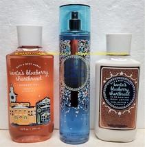 Santas Blueberry Shortbread Bath Body Work Fragrance Mist Body Lotion Sh... - $42.00