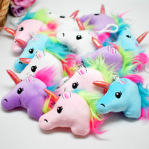 12 Unicorn Charms Backpack Keychains Party Favors Plush Cute Gifts Acce... - $14.99