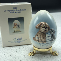 1999 GOEBEL ANNUAL EASTER EGG West Germany 22nd edition figurine 102737 ... - $29.65