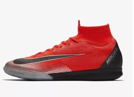 NEW NIKE FLASH CRIMSON CR7 SUPERFLY X 6 ELITE IC SOCCER CLEATS SNEAKERS ... - $117.80