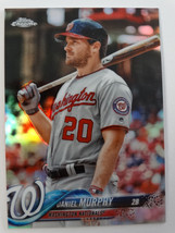 2018 Topps Chrome #196 Daniel Murphy Nationals Refractor Baseball Card - $3.00