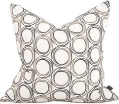 Howard Elliott Demo Throw Pillow 24x24 Stone Gray Viscose - $269.00