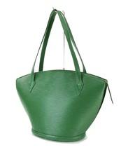 Auth LOUIS VUITTON Saint Jacques Large Green Epi Leather Shoulder Bag #31968 - $359.00