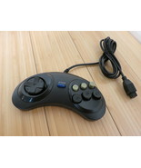 Generic 6 Button Game Controller for SEGA Genesis Black Tested & Working - $9.49