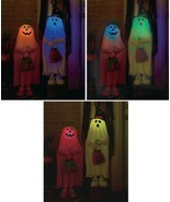 Freestanding Halloween Trick-or-Treat Figures About 3' Tall Color Changi... - $36.98