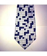 A. Rogers Crossword Puzzle Patterned Novelty Tie Unusual 57″ x 4″ - $17.37