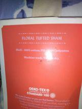Floral Print Tufted Pillow Sham Blue - Opalhouse Standard 1 Sham  STORE NEW! image 7