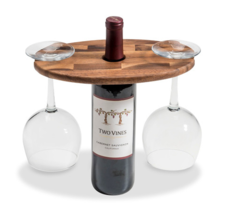 "High Quality Wooden Wine Glass Caddy 10"" x 6"" - $23.22"
