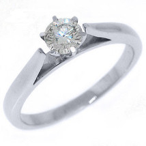 2/5 CARAT WOMENS SOLITAIRE BRILLIANT ROUND DIAMOND ENGAGEMENT RING WHITE... - £1,052.26 GBP