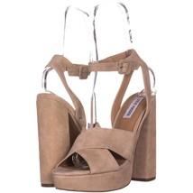 Steve Madden Jodi Platform Sandals 343, Blush SUede, 9.5 US - $27.83