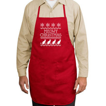 Meowy Christmas Cats New Apron Gift Cook Events Gifts Unisex Holidays - $19.99