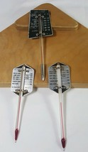 Vintage Meat Thermometers Lot of 3 Aluminum Mid Century Kitchen - $10.29
