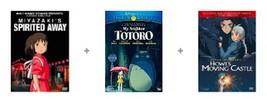 Spirited Away My Neighbor Totoro Howl's Moving Castle Films DVD Set Anim... - $76.22