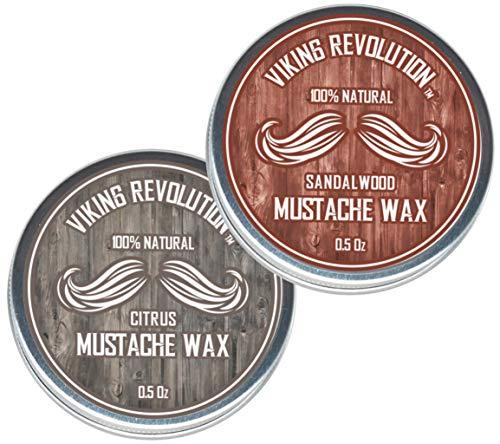 Mustache Wax 2 Pack - Beard & Moustache Wax for Men - Strong Hold Helps Train Ta