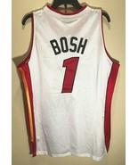 Miami Heat Chris Bosh #1 NBA adidas White Red Swingman Basketball Jersey 50 - $59.39