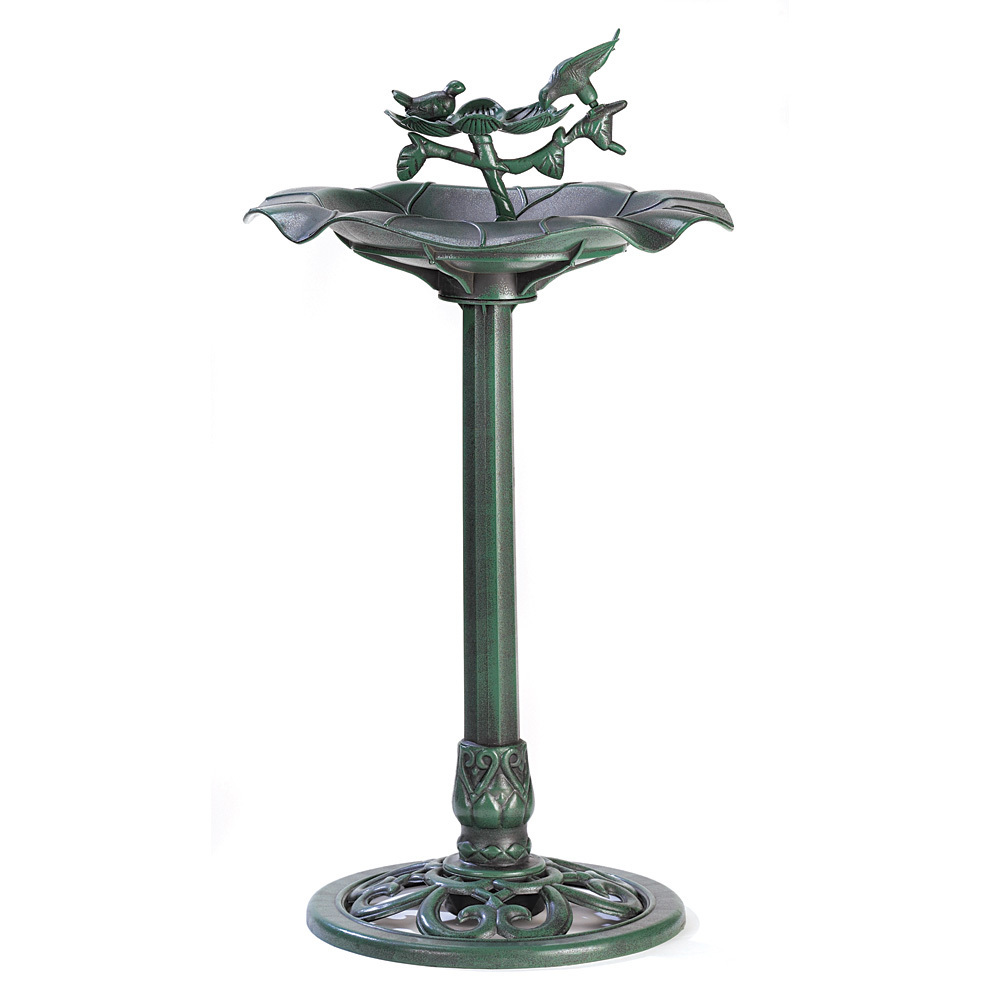 Outdoors Verdigris Birdbath 10039617