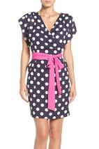 Black & White Polka Dot Faux Wrap Dress, size 8-14 $138 ELIZA J NWT - $37.45
